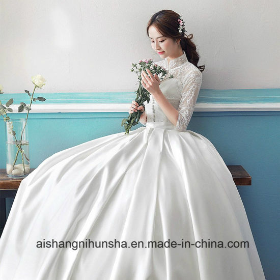 Elegant Chinese Style Stand Collar Wedding Dress - China Evening ...