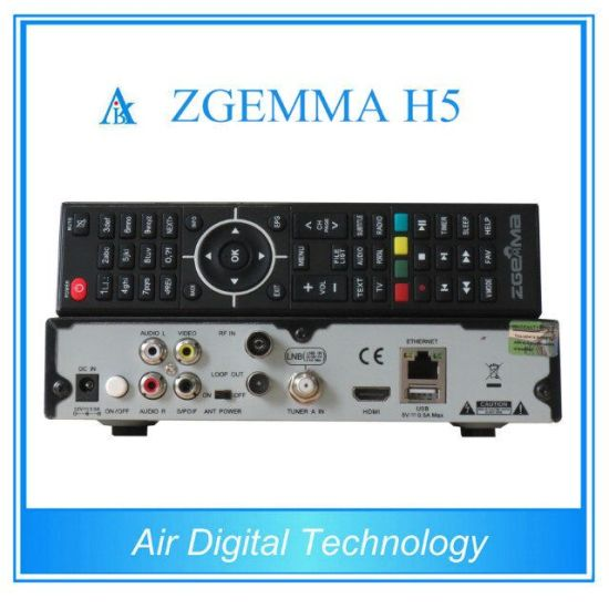 Smart Digital New Style Combo Receiver Zgemma H5 with MPEG Hevc/H. 265 DVB-S2 DVB-T2/C Twin Tuners pictures & photos