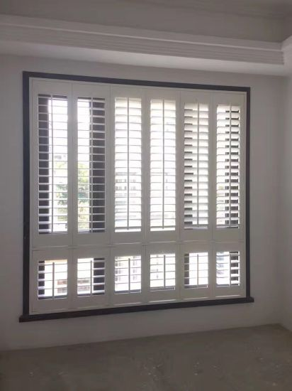 2018 New Design Europe Interior Basswood Plantation Window Shutters