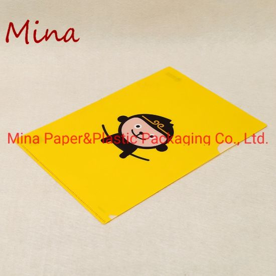 Eco-Friendly Useful PP Plastic A4 Size L Shape File Folder