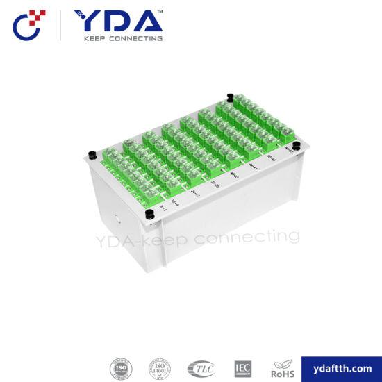 FTTH Manufacturer 1X64 Sc APC Upc 0.9mm Plug-in Fiber Optic Modue Type PLC Splitter