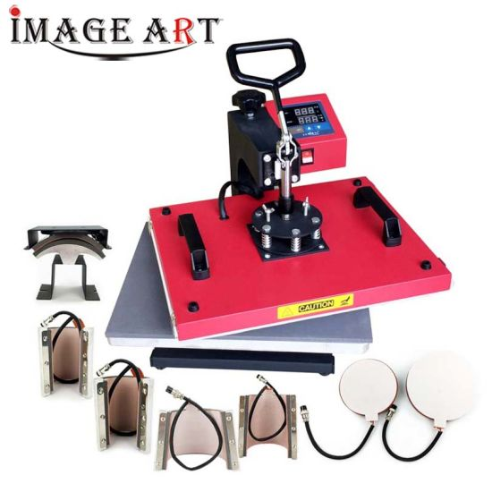 8in1 Combo Heat Transfer Heat Press Machine for T Shirt Sublimation Printing