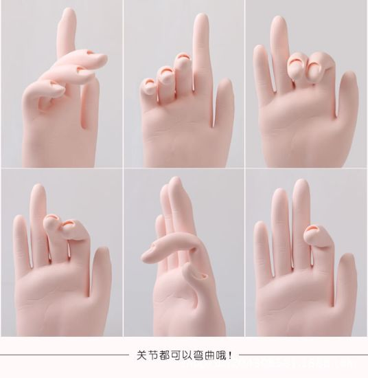 Bendable Practice Flexible Movable Soft Fake Hands Nail Art Training pictures & photos