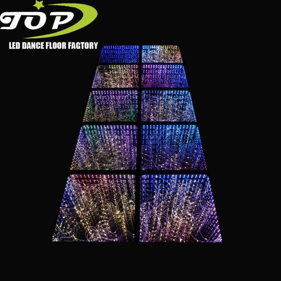 Portable LED 3D Mirror Starlit Dance Floor Panel for Disco Stage Lighting