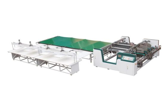High Speed Double Pieces Corrugated Colorful Box Folder Gluer Machine