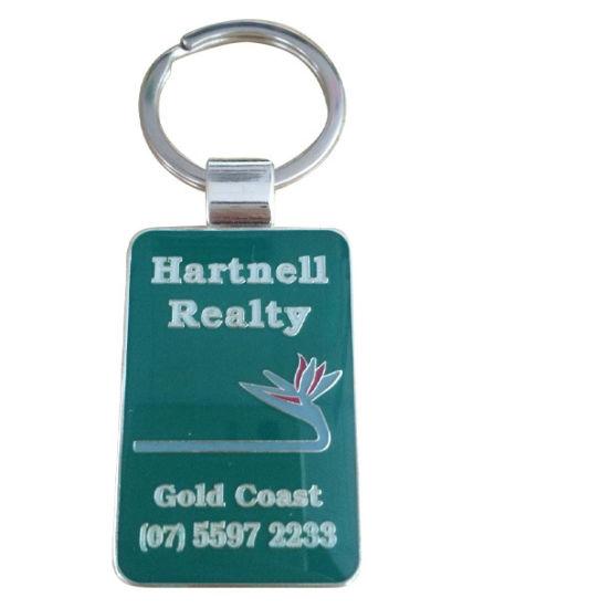 Customized Metal Keychain with Epoxy Logo