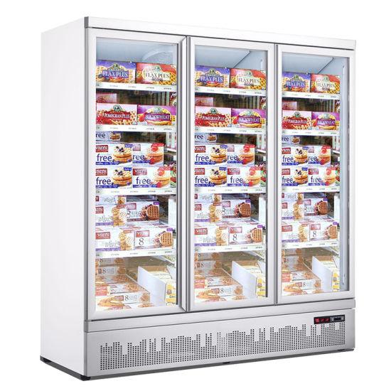 Competitive Price Glass Door Freezer Beverage Used Glass Door Freezer