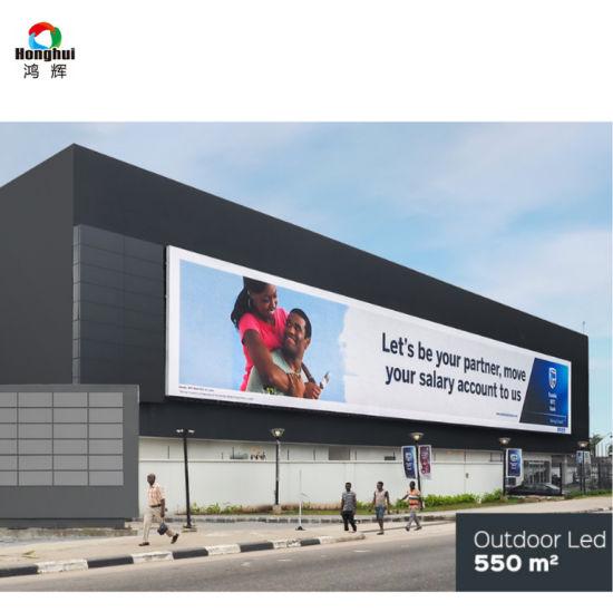 16X32 Cm LED Panel 7000 CD Brightness LED Video Screen P10 Outdoor LED Billboard