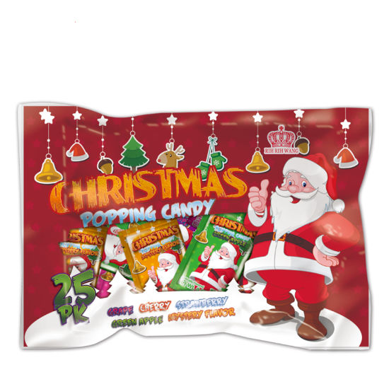 Christmas Packing Mix Fruit Popping Candy