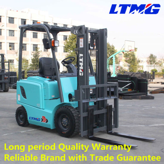 Ltmg 1.5 Ton Small Electric Forklift Work in Container