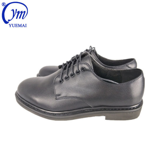 Custom Full Genuine Leather Safety Army Military Men Office Shoes pictures & photos