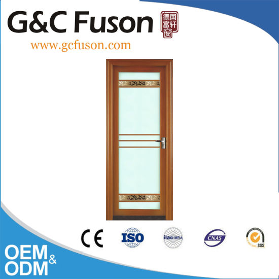 Cheap Bathroom Swing Door with Tempered Glass pictures & photos