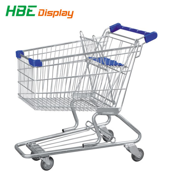 Supermarket Shopping Cart with Trolley Display Advertising Board pictures & photos