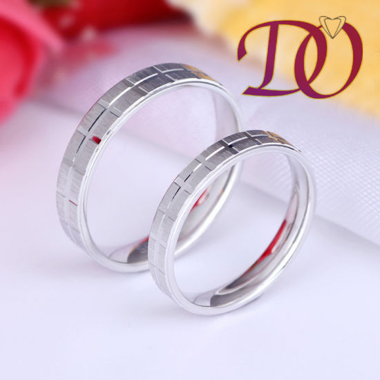 China Simple Wedding Rings For Women And Men 925 Sterling Silver