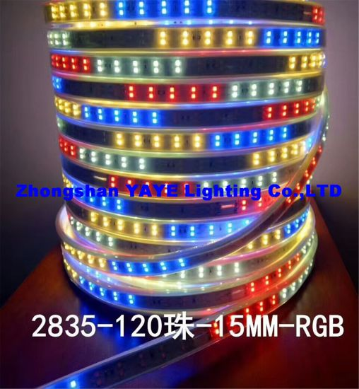 Yaye 18 Hot Sell 12V/220V SMD2835 RGB Waterproof IP68 LED Strip Light / SMD LED Strip Light /LED Decorative Light with 2 Years Warranty pictures & photos