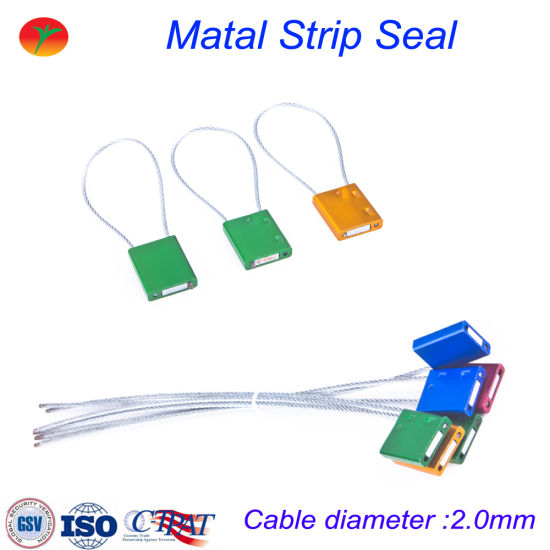China One-Time Use Cable Wire Lead Seal Cable Security Seal - China ...