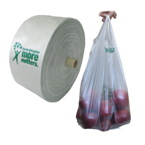 Hot Sell Eco T-Shirt Handles PVC Plastic Bags on Roll pictures & photos