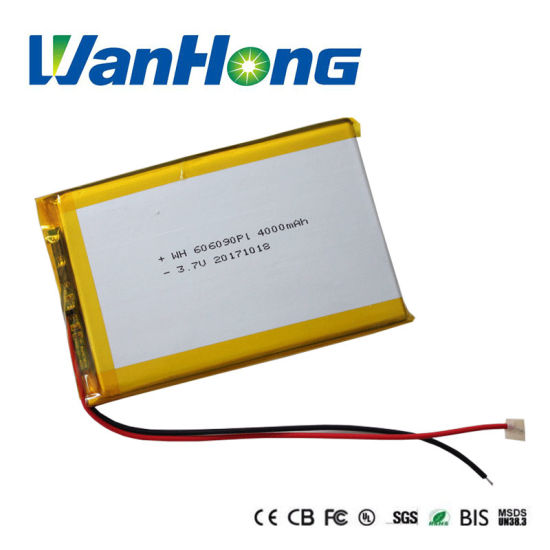 UL IEC62133 Kc Li-ion Battery 606090pl 4000mAh Lithium Ion Li-Polymer Battery Pack for Power Bank MID