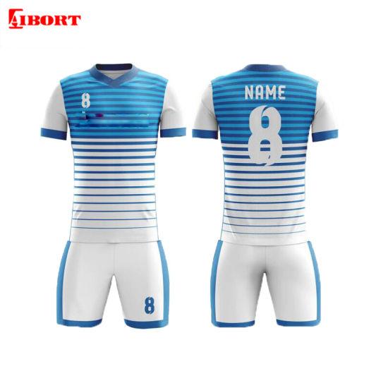 Aibort OEM Custom Sports Printed New Model Soccer Team Uniform (l-sc-33)