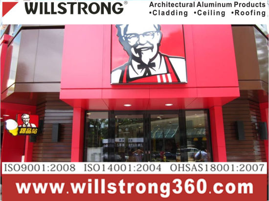 Kfc Red 3mm Aluminum Composite Panel for Billboard Display Stand pictures & photos