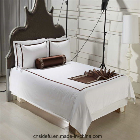 Brand Name Custom Hotel 100% Polyester Bed Sheets