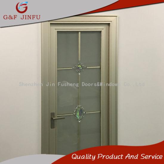 China Low Price Powder Coated Aluminium Bathroom Door Entrance Door ...