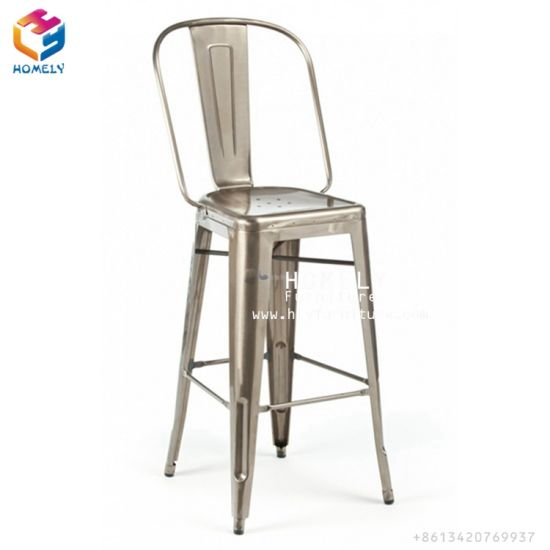 china wholesale antique top tolix metal high back bar chair china