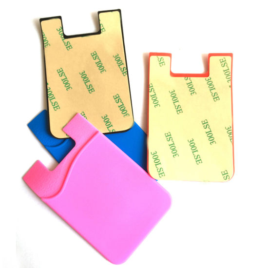 Promotional Universal 3 M Sticker Smart Mobile Phone Silicone Waterproof ID Credit Card Holders