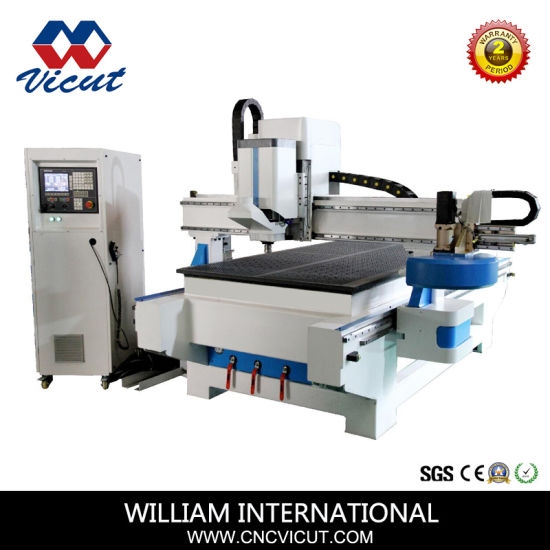 Aluminum/PVC/Acrylic/Wood Auto Tool Change CNC Router CNC Engraving and Cutting Machine (VCT-1325ATC16) pictures & photos