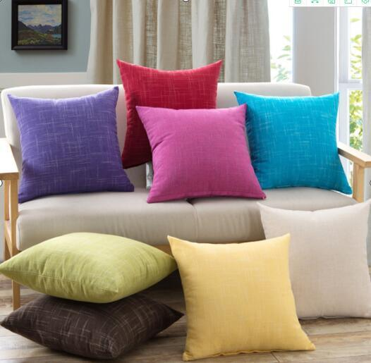 Home Brilliant Linen Throw Pillow Cover Burlap Square Cushion Cover Pillow Sham for Couch Living Room