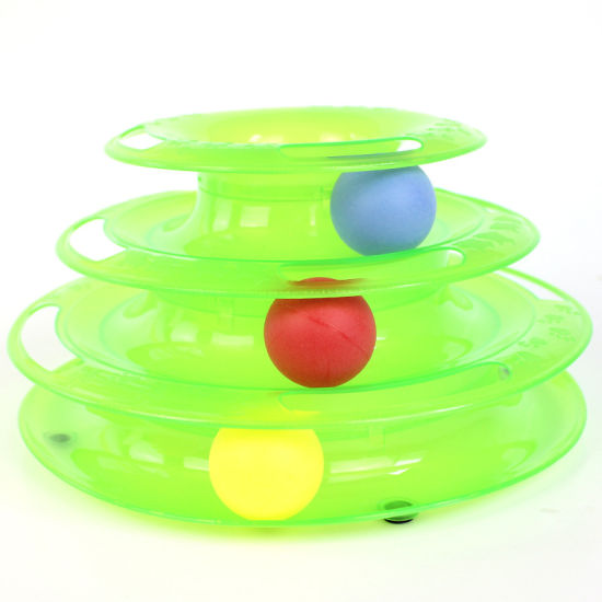Three Levels Customized Colorful Turntable Track Cat Pet Toys pictures & photos
