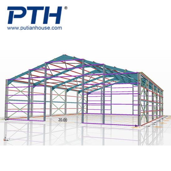 China Luxury Cheap Prefabricated Steel Frames Aircraft/ Hangar House ...