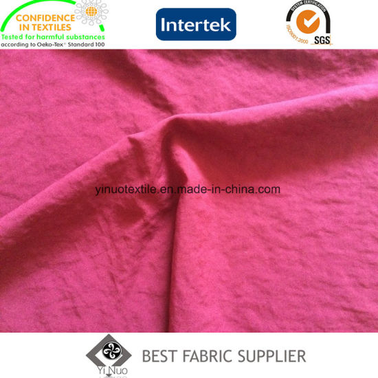 Super Soft Polyester Mechanical Stretch Crinkle Fabric Garment Fabric