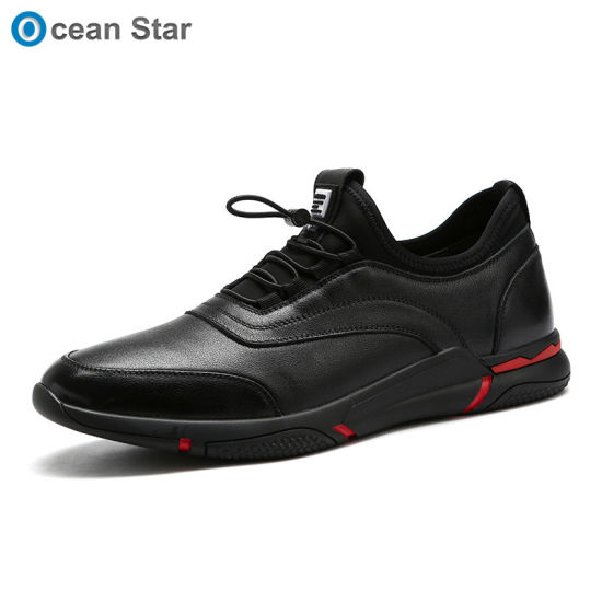 2019 Autumn New Breathable Men's Shoes Man Leather Casual Shoes