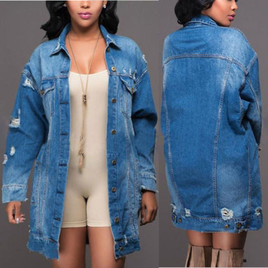 Large Size Coverall Clothes Outdoor Bomb Denim Jeans Jacket