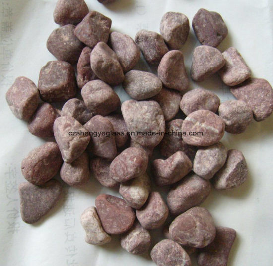 China Crushed Red Landscaping Granite Stone Chips China Colored
