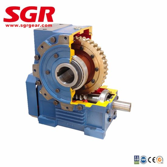 High Efficiency Worm Gear Series Double Enveloping Worm Gear Worm Gearbox