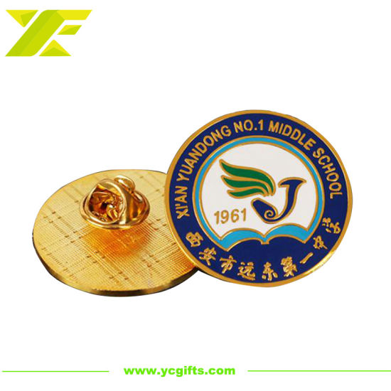 High Quality 3D Custom Enamel School Souvenir Badge Embossed Promotion Items Metal Emblem Fashion Logo Lapel Pins (BD08-C)