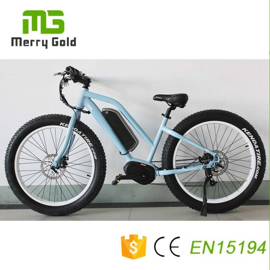 350W/500W 26inch Electric Bike Fat Tire MID Drive E-Bike/Cheap Electric Bicycle pictures & photos