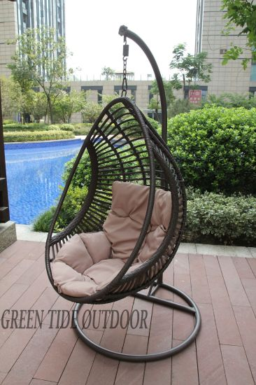Outdoor Garden Patio Home Furniture Rattan Drop Hanging Swing Egg Chair  Hanging Pod
