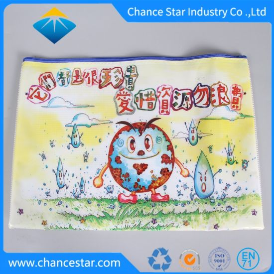 Custom Printed Plastic PVC Mesh Bag with Zipper