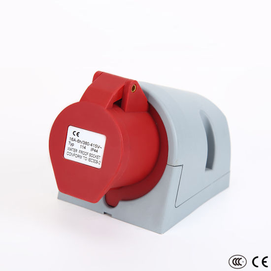 China IP44 3p+E Economical Surface Mounted Waterproof Industrial Socket