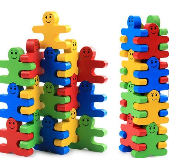New Kids Wooden Educational Blocks Cartoon Game Set Toy Roller Blocks Toy