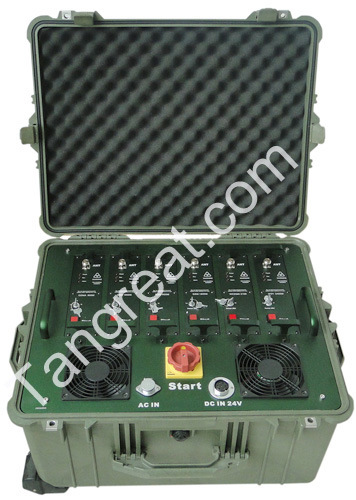 Tg-Multi Band Cell Phone WiFi GPS Portable Convoy Tactical Jammer (TG-VIP MB 1.0)