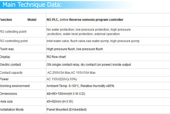 RO-PLC Controller for Industrial RO Purification System