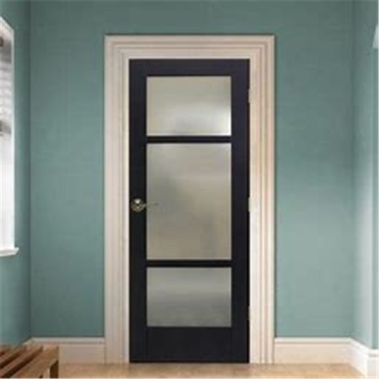 Lite Wooden Frosted Gl Doors Slab