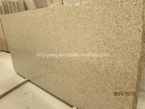 Natural G682 Rusty Yellow Granite Stone Slab For Countertop