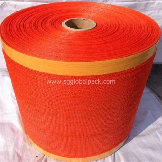 Red PE Raschel Fabric for Potato Packaging