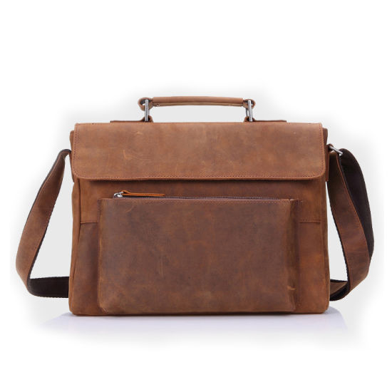 705cdaf49803 China Wholesale Price OEM Brand Mens Crazy Horse Leather Messenger ...