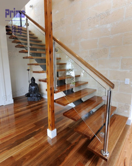 Charming Wooden Staircases With Acacia Wood Stair Treads Pr L1106